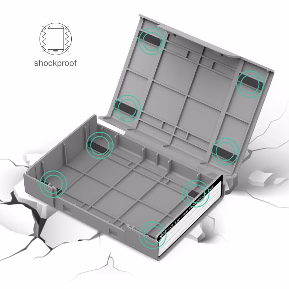 """qicent 2 шт./лот простой жесткий диск протектор коробка для 3.5 """"жесткий диск случае с водонепроницаемый функция, корпуса для жёстких дисков с shockroof функция"""