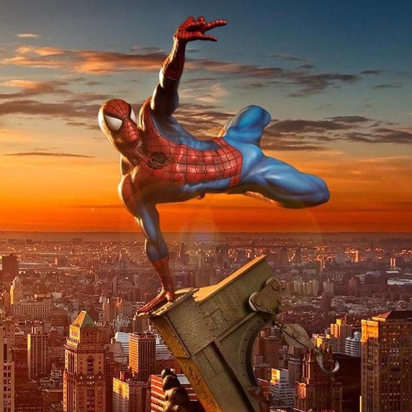 The Spider Man : Homecoming Black Spider Man Venom Spider PVC Action ...