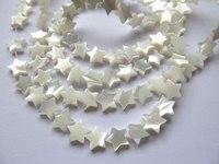 Atacado 2 vertentes 8-12mm Natural White MOP Pingentes Estrela Marrom Mãe Branca do Pearl Esculpido Estrela Contas