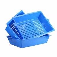 猫bedpansセミクローズド抗スプラッシュ猫トイレ猫砂ボックスプラスチック便器ケースペット3連動トレイ簡単に使用ホット新しい