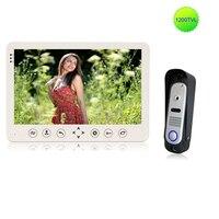 Homefong 10 дюймов белый охранных видеодомофоны 1/3 ''CMOS 1200TVL камера день ночное видение монитор видеонаблюдения видео запись