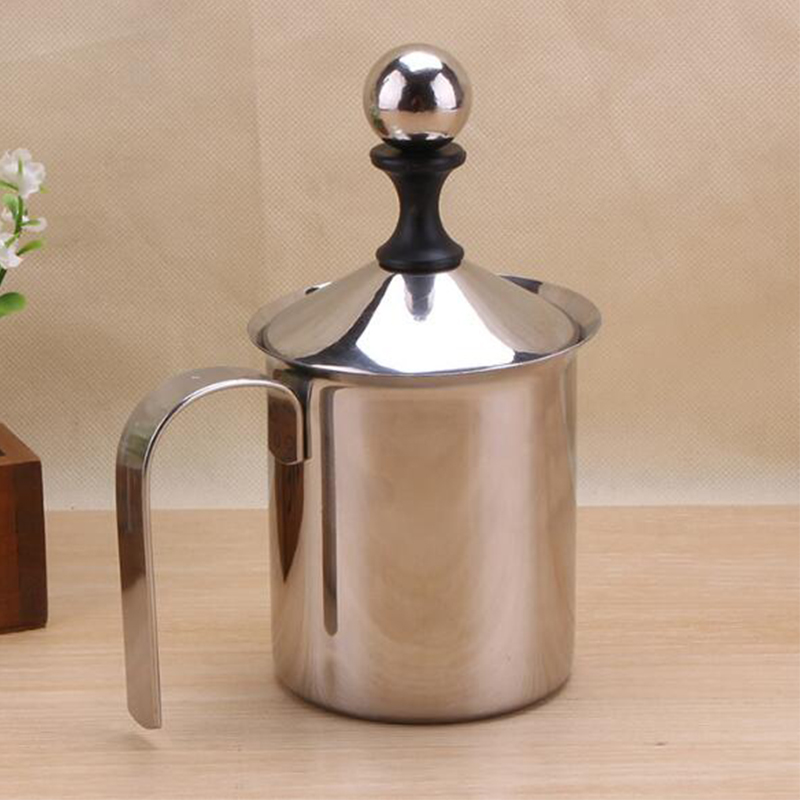 400ml Home Use Stainless Steel Filter Screen Milk Bubble Coffee Latte Art Caffe Latte Mugs Coffee Pot Kettle eupa stainless steel 500ml espresso coffee latte art cylinder pitcher barista craft latte milk frothing jug household