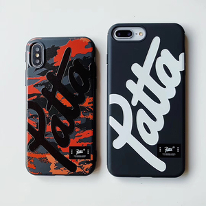 Hot Dutch street fashion brand patta case for iphone X XR XS MAX 7 8 6 6S plus fashion camouflage soft silicone phone cover capa(China)
