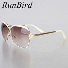 RunBird, модные солнцезащитные очки для женщин, оправа, популярные, Роскошные, брендовые, дизайнерские, солнцезащитные очки, Infantil Oculos De Sol Feminino R547