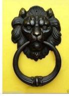 Decoration Brass Factory Pure Brass Antique Exquisite Chinese BRASS Fierce Lion Head Door Knocker 7 High