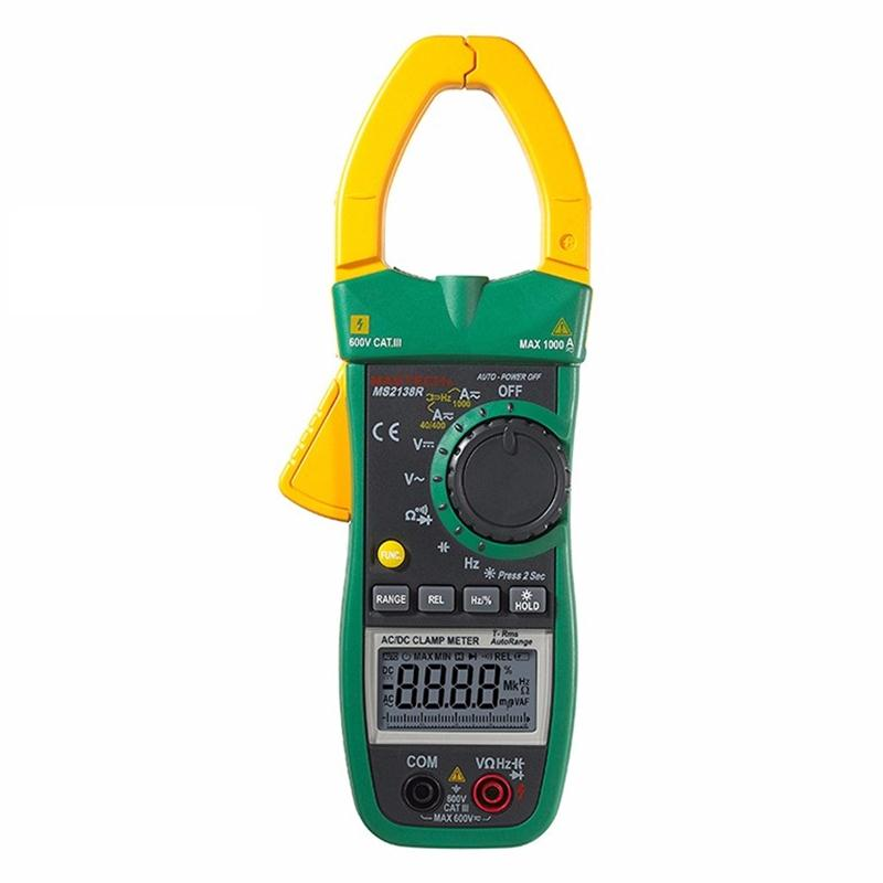 MASTECH MS2138R 4000 Counts Digital AC DC Clamp Meter Multimeter Voltage Current Capacitance Resistance Tester подвеска олененок 8см полистоун в асс те