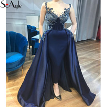 SoAyle Prom Dresses 2018 Luxury Evening dresses Sleeveless