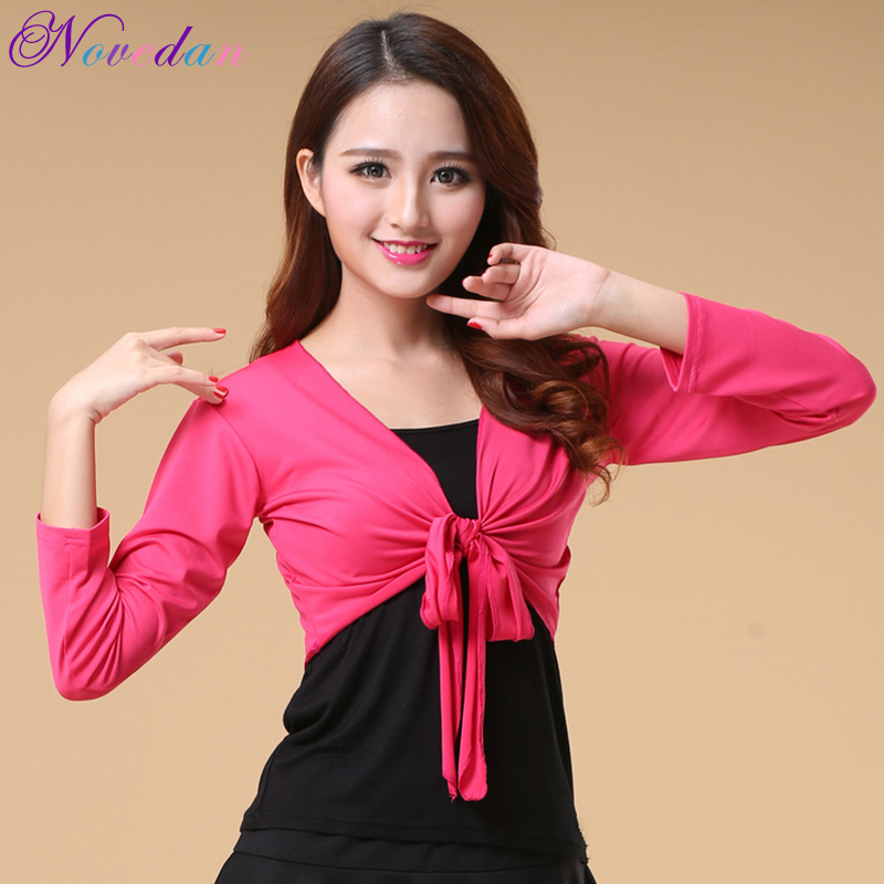 Women Shawl Dance Wrap Top Perform Long Sleeve Dance Clothes Square Dance Costume Shawl