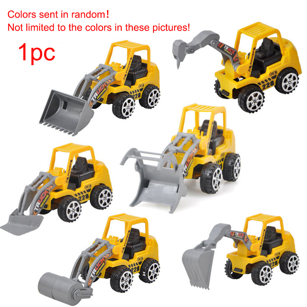 1Pc Kids Car Toy Fun Mini Engineering Truck Bulldozer Toy 6 Kinds Excavator Bulldozer Educational Toy Children Playing Toys