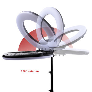 Image 4 - Fosoto FC 480 цветное RGB Светодиодное видео Освещение фотосъемки 2800 10000k 96W камера кольцо для телефона свет и штатив Стенд Зеркало