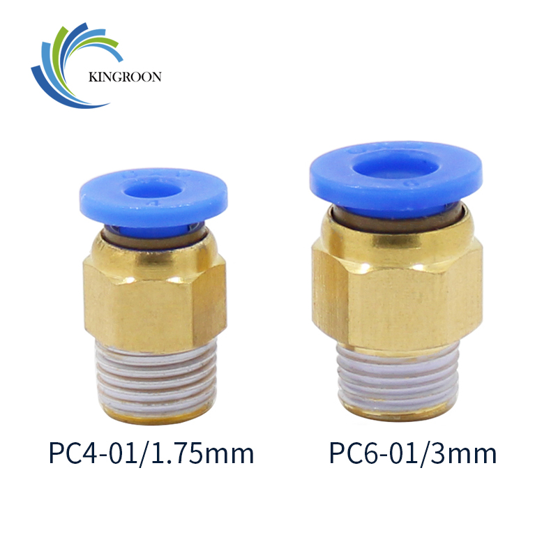 PC4-01 1.75mm or PC6-01 3.0mm PTFE Tube Quick  Coupler j-head Fittings Hotend BB