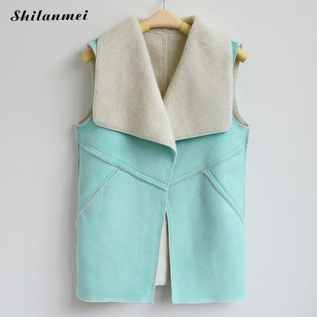 Suede Leather Sleeveless Jacket
