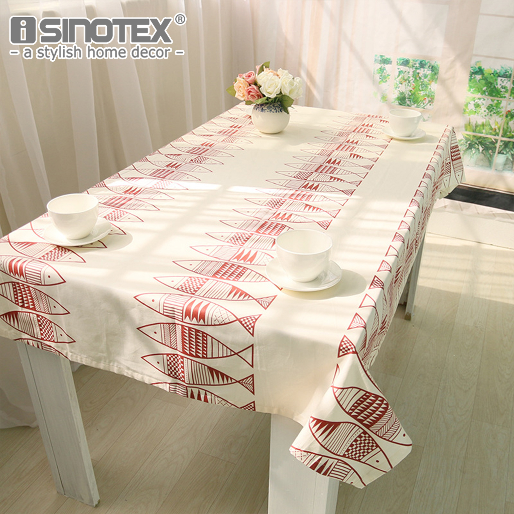 Tablecloth Mediterranean Style White Large Size Table Cover Cotton ...