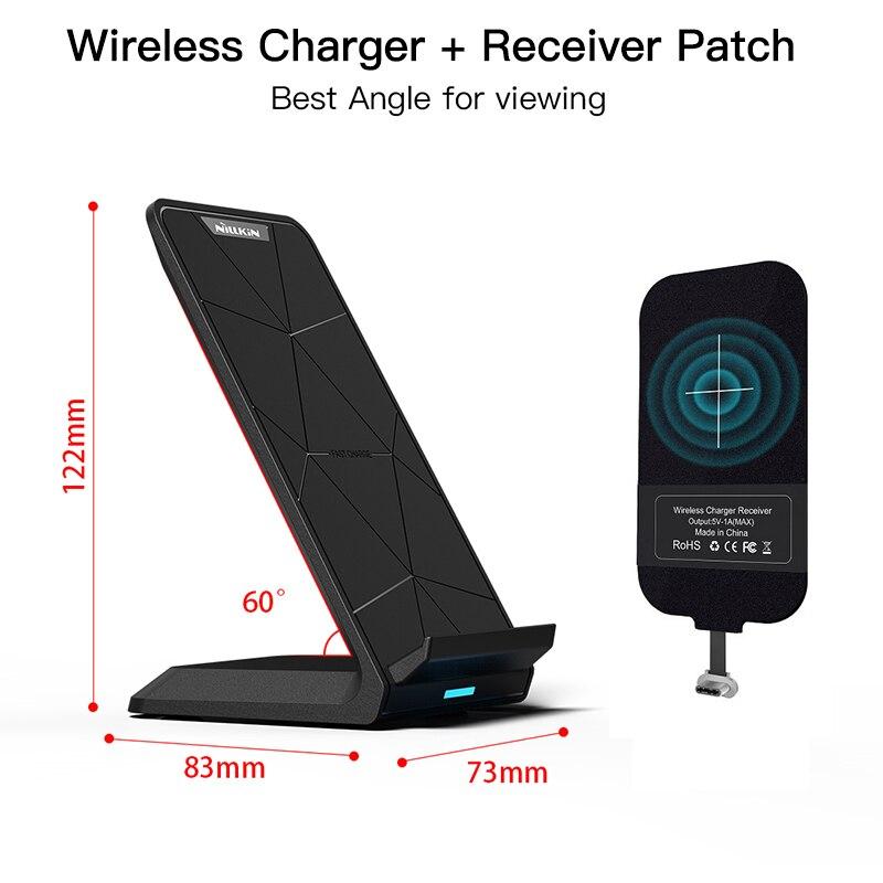 Qi Chargeur Sans Fil de charge Pad avec Qi De Charge Récepteur Patch pour iPhone 7/7 Plus/6 s/ 5S Pour Xiaomi pour Samsung OnePlus 5 t