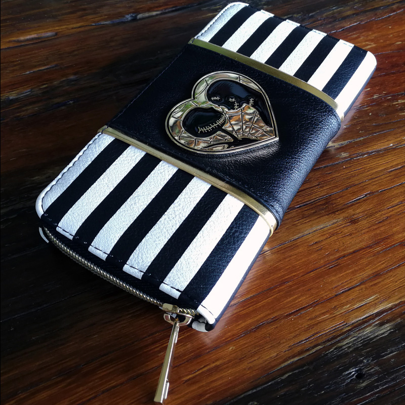 Jack and Sally Zip Around Wallet pu Long Fashion Women Wallets Designer Brand Purse Lady Party Wallet Female Card Holder