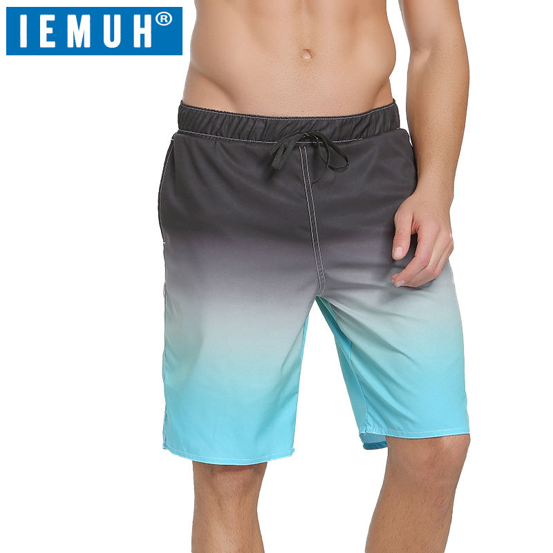 Beach Short Board Shorts IEMUH Men Quick Dry Swimwear Men Sweat Board Shorts Gmy Running Shorts Surfing Joggers Beachwear Sports
