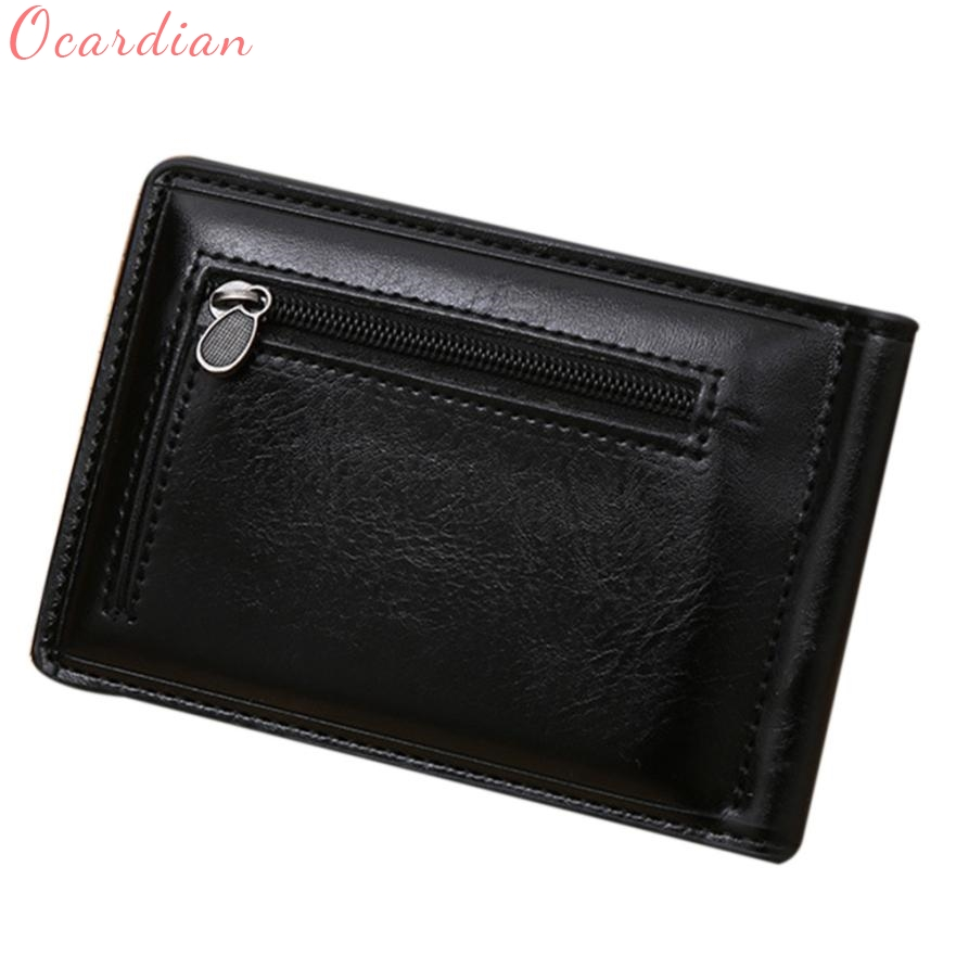 Men Wallet Top Quality Card ID =Mini Zipper PU Leather Business Credit Coin Holder Money Clip Gift Billetera Carteira 17July10 never leather badge holder business card holder neck lanyards for id cards waterproof antimagnetic card sets school supplies