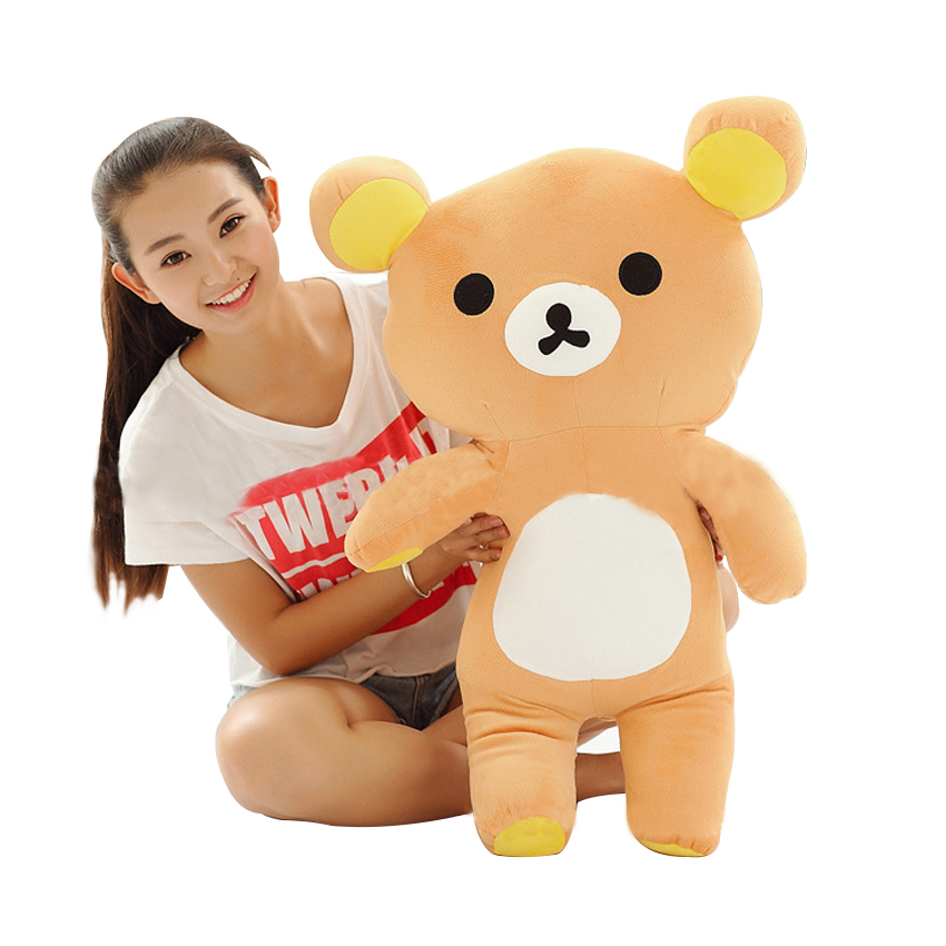 ФОТО Hot Sale Huge 80cm San-x Rilakkuma Relax Bear Lovely Stuffed Toys Cute Soft Pillow Plush Toy Doll