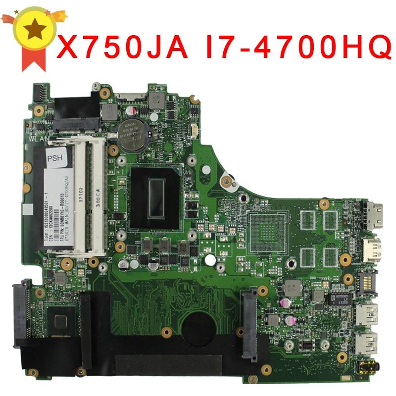 For ASUS A750J A750JA K750J K750JA X750J X750JA laptop motherboard X750JB rev2 0 Mainboard i7 4700HQ