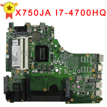 For ASUS A750J A750JA K750J K750JA X750J X750JA laptop motherboard X750JB rev2.0 Mainboard i7-4700HQ 100% Tested
