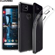KLOVRRD Soft Transparent Case For Google Pixel 2 Case Cover Silicone Back Cover Phone Case For Google Pixel 2 XL Pixel2