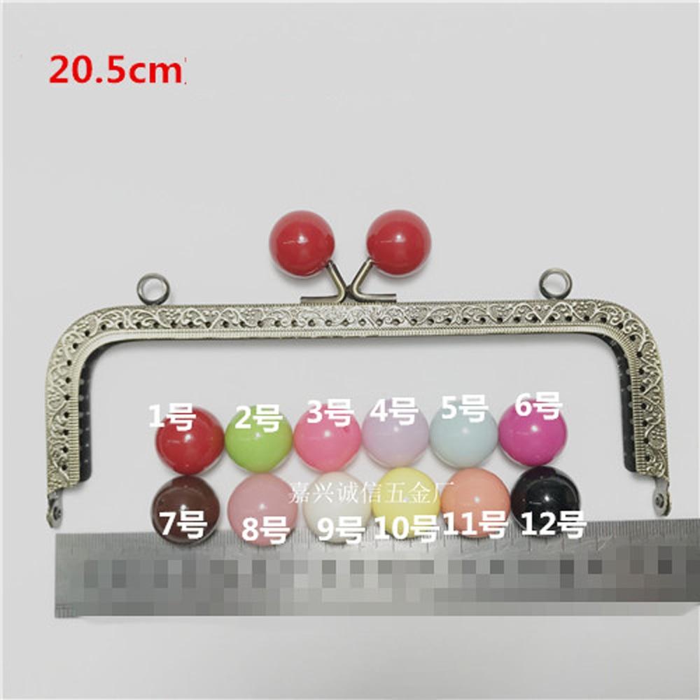 20 5cm DIY women purse frame kiss buckle coin bag metal clasp candy color ball design
