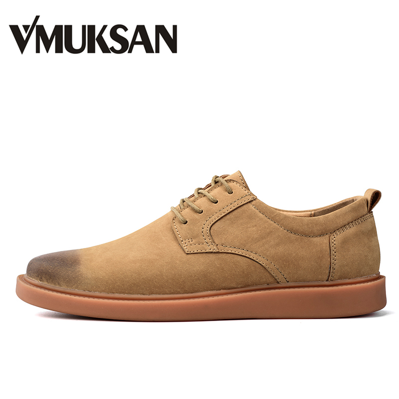 VMUKSAN Hot Sale Men Casual Shoes Handmade Fashion British Men Shoes Pig Suede Lace Up Oxford Shoes For Men 2018 Zapatos Hombre vmuksan hot sale suede leather shoes men high quality lace up men casual shoes new style comfortable men s spring shoes