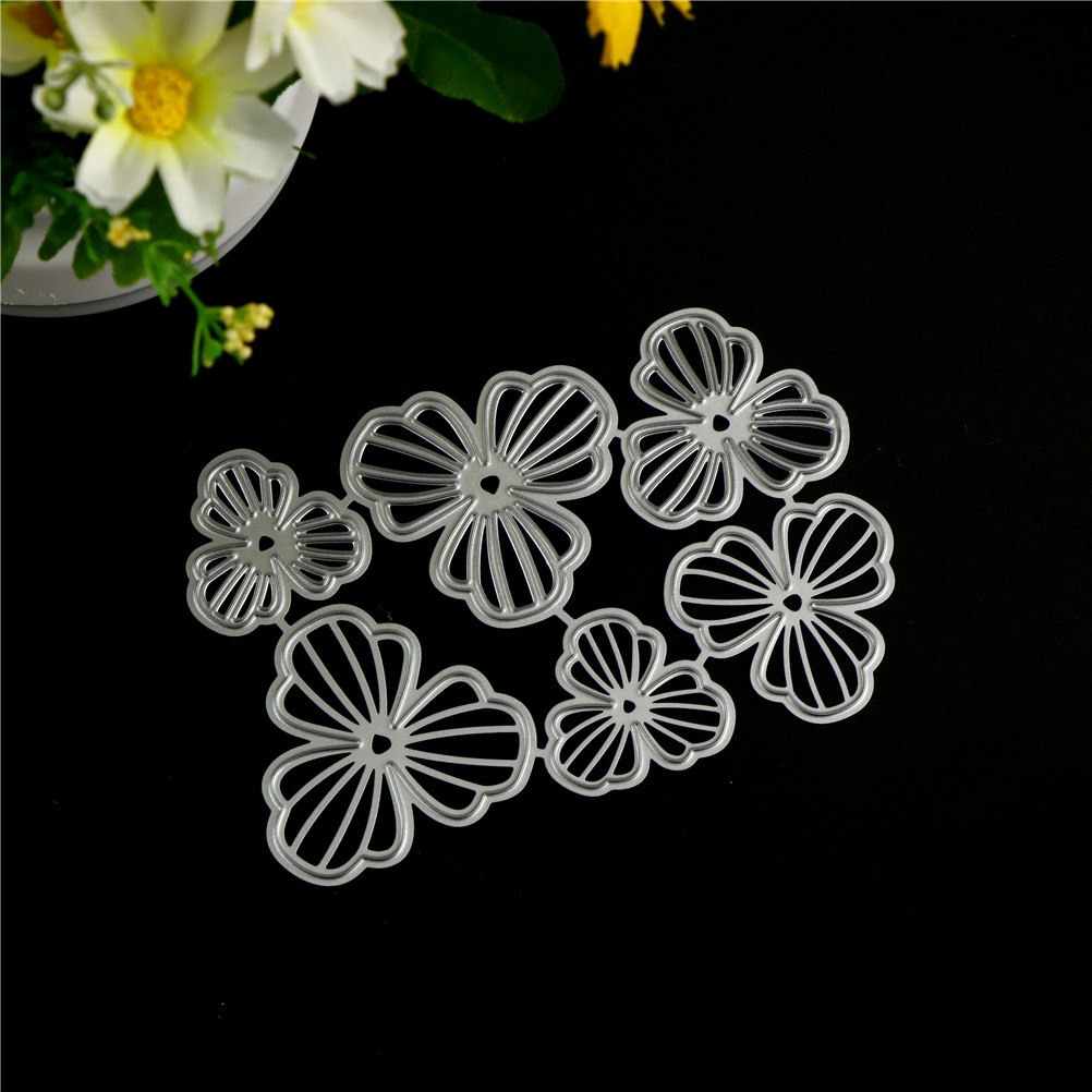 6pcs//set Flowers Metal Cutting Dies For DIY Scrapbooking Album Paper Cards ZN