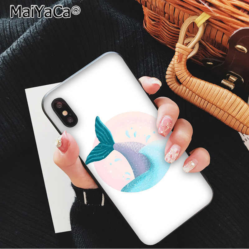 MaiYaCa جميلة حورية البحر فتاة ذيل السمكة قشور السمك الجدة Fundas جراب هاتف ل iphone 11 برو 8 7 66S زائد X XS ماكس 5S SE XR