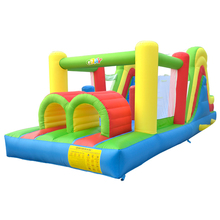 цена на Dual slide inflatable combo bounce house bouncy castle moonwak