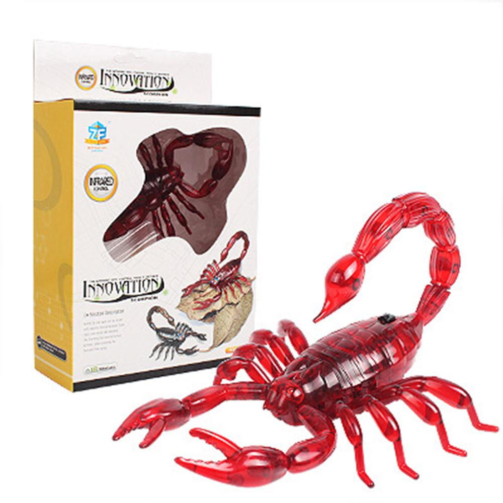 Trick Electronic Pet RC Simulation Scorpion Robotic Insect Prank Toys Beetle Remote Control Smart Animal Model Child Adult Gift scorpion pattern acrylic insect bracelet coffee red