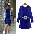 new 2016 winter autumn woman lady casual cotton knitted trench coat open stitch long sleeve top loose plus size XL~5XL