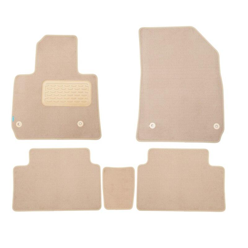 Mats in salon Klever Premium For CITROEN C5 2008-2017, сед., Oon... 5 PCs (textile, beige) mats in salon klever premium for nissan teana ii 2008 2014 сед 5 pcs textile