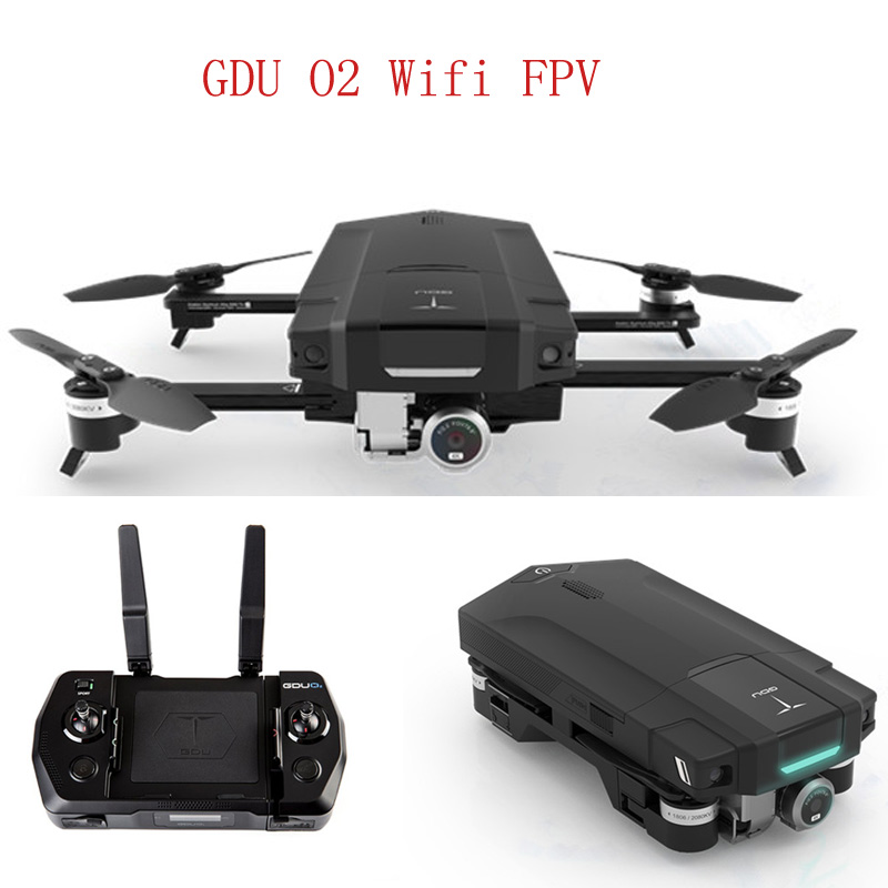 GDU O2 Obstacle Avoidance APP GPS Wifi FPV With 3-Axis Stabilized Gimbal 4K Camera Foldable Arm RC Quadcopter Drone jjr c jjrc h43wh h43 selfie elfie wifi fpv with hd camera altitude hold headless mode foldable arm rc quadcopter drone h37 mini