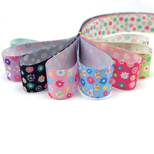 5y/8y 25mm Polyester Flower Printed Grosgrain Ribbons DIY Trim Sewing Ribbon Garment Decorative Hair Bow Accessories 040054268
