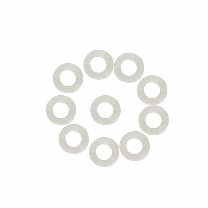 10Pcs Katun Merasa Tikar Terompet Kunci Pad untuk Sangkakala Trombon Perbaikan Aksesoris Diameter 1.8Mm Tebal 3Mm