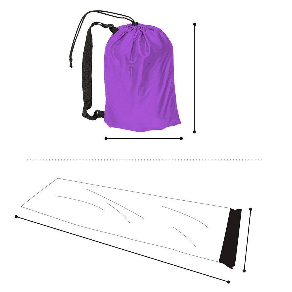 10 couleurs Gonflable Air Canapé Paresseux Sac Transat Laybag Extérieure Floqué Camping Portable Oreiller canapé Plage air Lit de Couchage Sacs