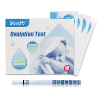 Wondfo 50 x Ovulation Urine Test Strip LH Detection Sticks Early Tests Paper Over 99% Accurancy As Fast As 3 Minuntes
