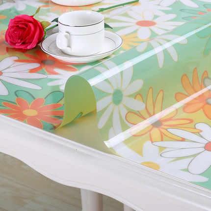 Утолщенные скатерти из ПВХ водонепроницаемые мягкие стеклянные пластиковые скатерти коврик для стола салфетка для кофейного столика маслостойкая Скатерть