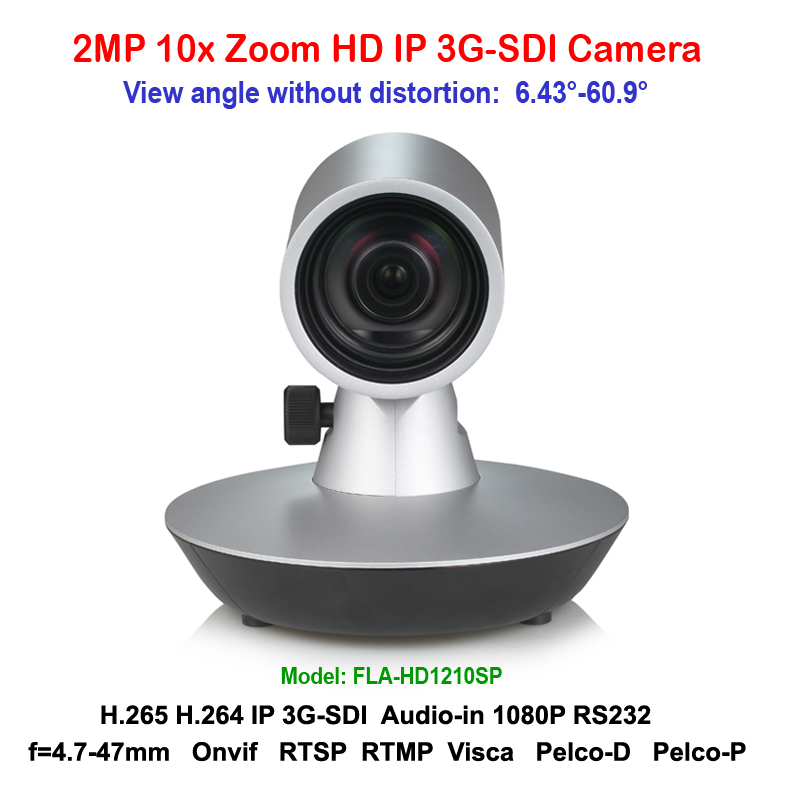 2megapixel 10x Optical zoom HD video conferencing IP / 3G-SDI Indoor room conference video camera