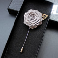 High Quality 20 Colors Lapel Flower Mental Leaf Handmade Boutonniere Stick Breastpin Pin Mens Accessories For Wedding With Box