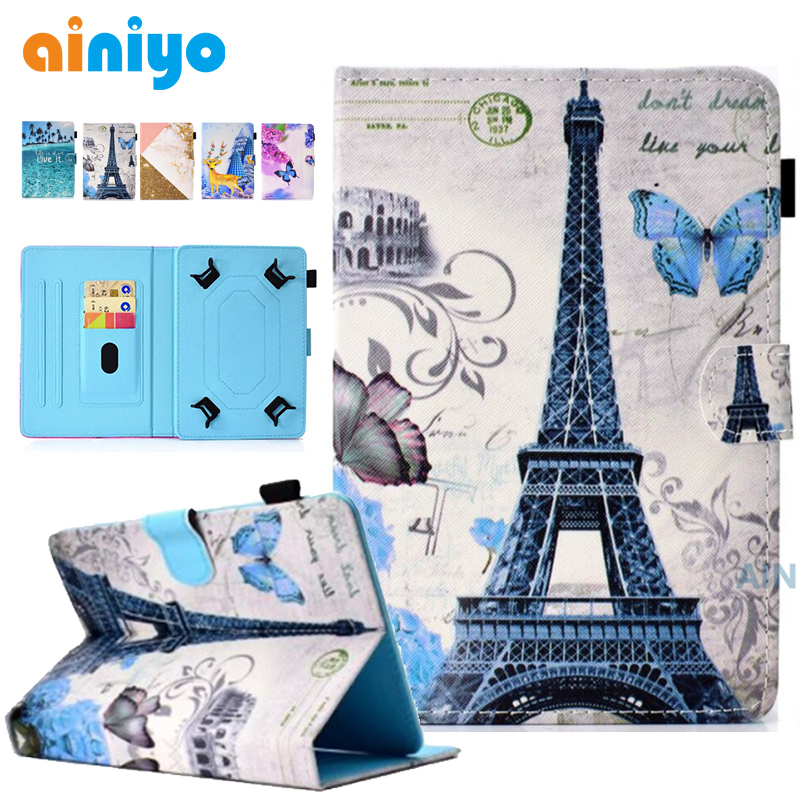 Stand Universal Case Cover for Lenovo IdeaTab A3300A3500A1000A3000S5000 7 Inch Tablet + touch pen