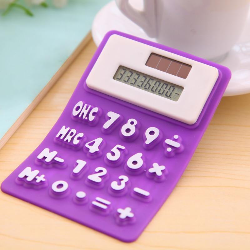 Handheld Silicone Scientific Calculator Foldable Pocket Calculator Solar Calculators Scientific For School Meeting