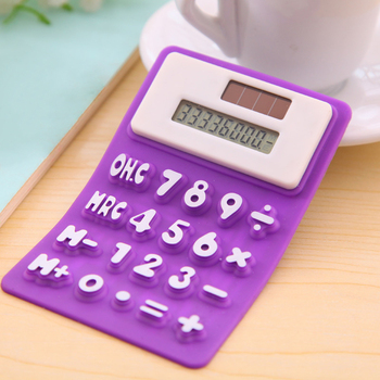 Handheld Silicone Scientific Calculator Foldable Pocket Calculator Solar Calculators Scientific for School Meeting