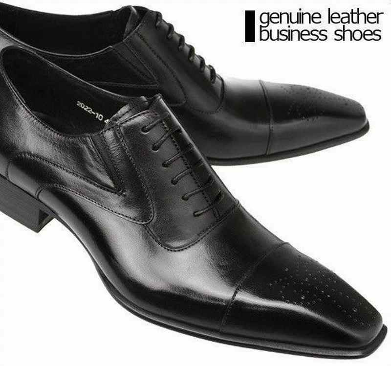 6a2c2b27d7f52 ... High Quality Mens Dress Shoes Genuine Leather Square Toe Classic Men  Formal Business Flat Shoes Elegant ...