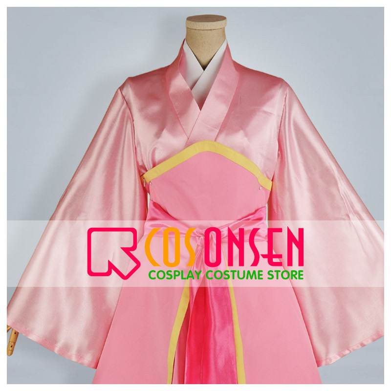 COSPLAYONSEN New Magi The Labyrinth of Magic Hakuei Ren Pink Dress Cosplay Costume Women/Men Costume All Size