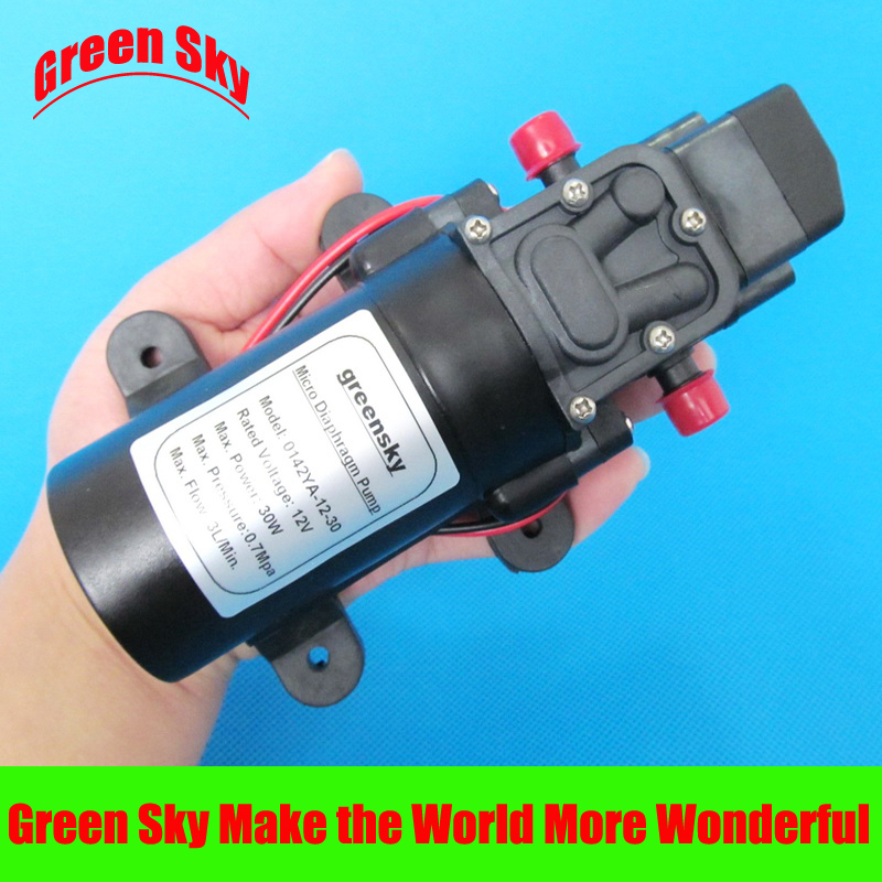 цены  30W Max. Flow 3L/Min. dc 12v diaphragm water pump for lawn,garden,vehicle cleaning, carpet cleaning