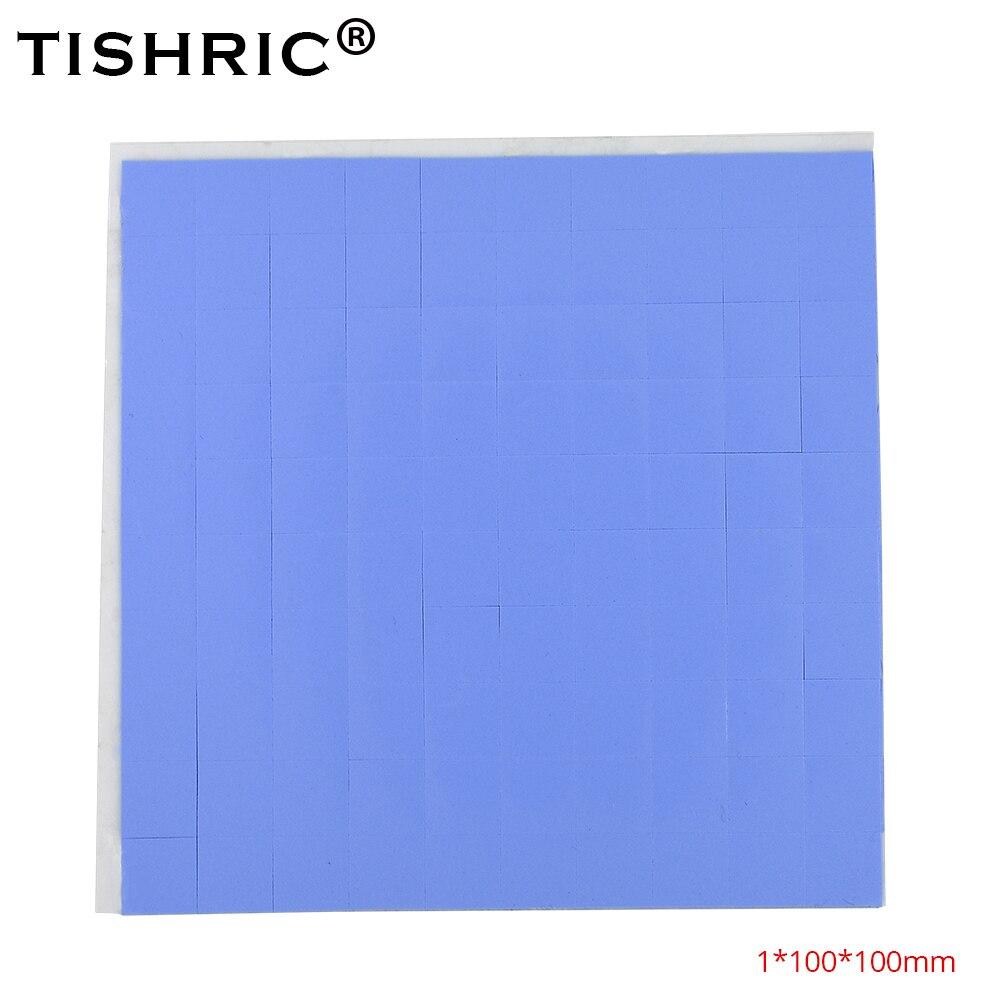 TISHRIC Silicone Thermal Pad 1mm Adhesive GPU CPU Pc Fan Cooler Heatsink Heat Sink Grease Paste Radiator Cooling Conductive Pads