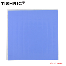 TISHRIC Silikon Thermische Pad 1mm Klebstoff GPU CPU Pc Fan Kühler Kühlkörper Kühlkörper Fett Paste Heizkörper Kühl Leitfähige pads