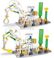 Iron Commander Scale Model Alloy Pneumatic Assembling Vehicle Metal Building model kit educational toys,Pneumatic vehicle